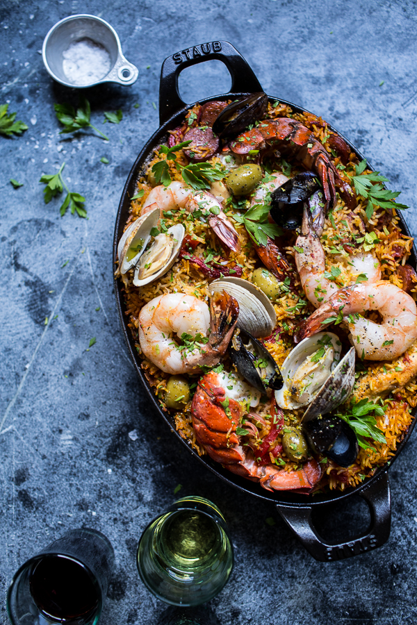 Skillet-Grilled-Seafood-and-Chorizo-Paella-1